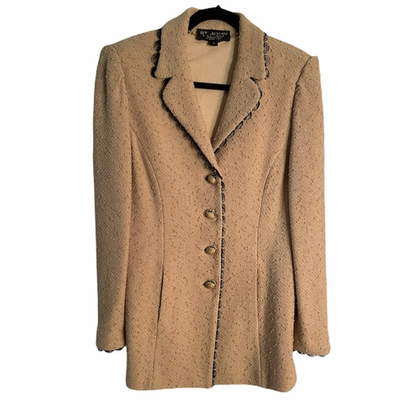 St. John Tan Blazer/ Suit Jacket